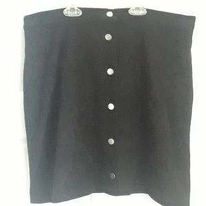 H & M Black Mini Skirt